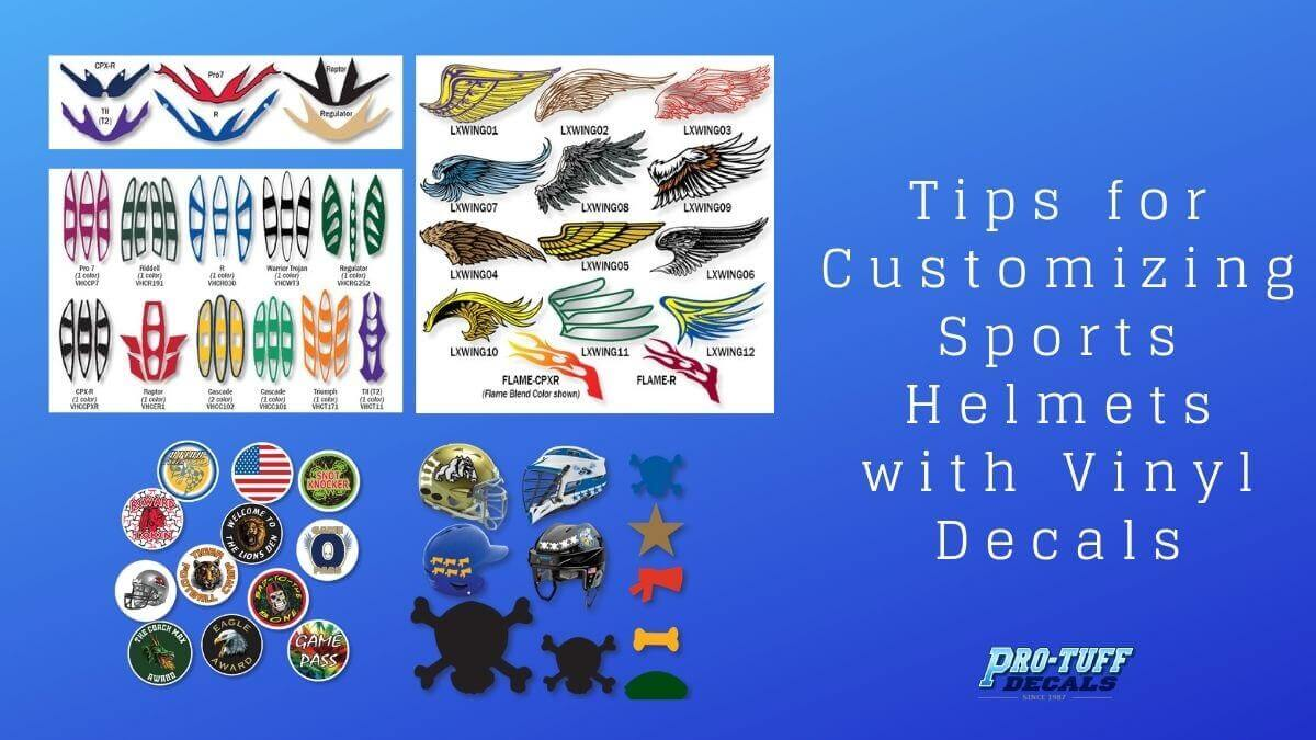 Tips for Customizing Sports Helmets with Vinyl Decals