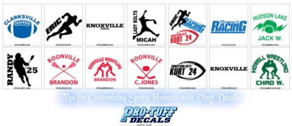 Tips For Customizing Sports Helmets With Vinyl Decals - Customized vinyl decals