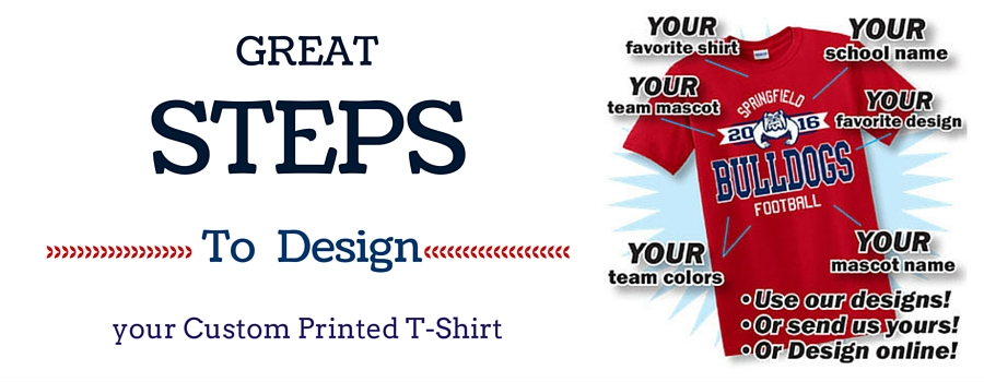 Great Steps to Design your Custom Printed T-Shirt