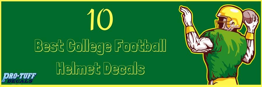 Best College Football Helmet Decals