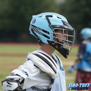 Lacrosse player with Helmet