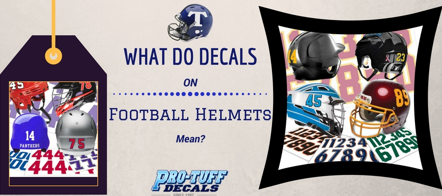 What do Decals on Football Helmets Mean