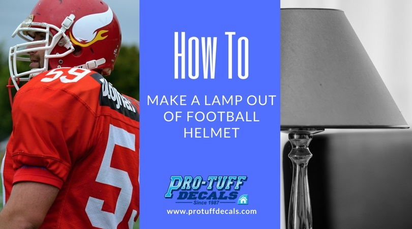 How to Make a Lamp out of a Football Helmet
