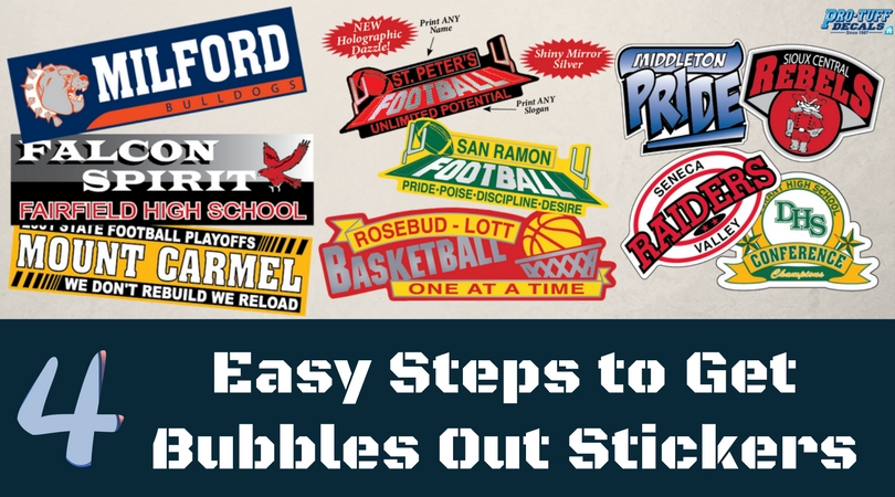 steps to take bubbles out from stickers