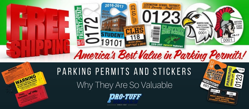 parking stickers: why they are so valuable