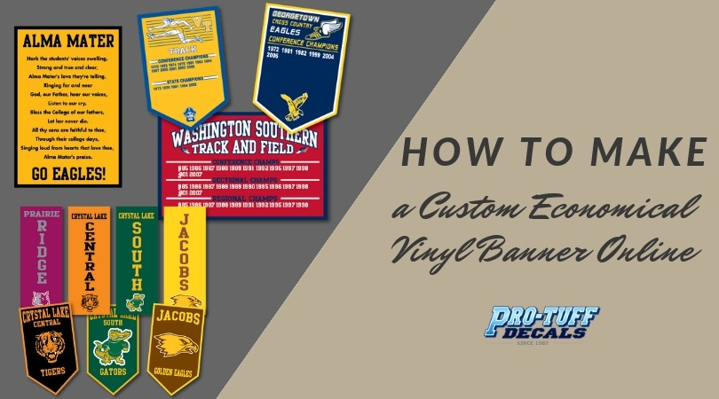 how to make a custom economical vinyl banner online