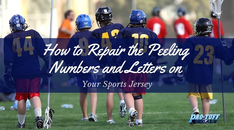 Repair the Peeling Numbers and Letters on Your Sports Jersey