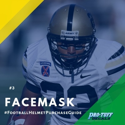 football helmet purchase guide - facemask