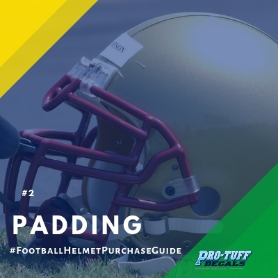 football helmet purchase guide - padding