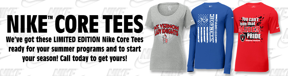 New Nike Core Tees