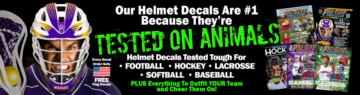 Helmet Decals Tested On Animals!