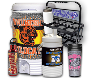 Sports Bottles, Cups  & Coolers