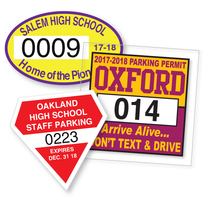 Permit Stickers and Decals