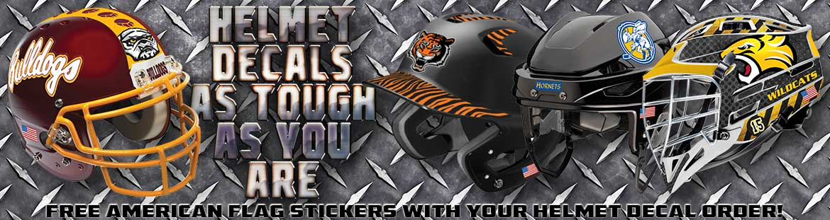 Pro-Tuff Helmet Decals for Football, Baseball, Softball, Hockey, Lacrosse and More!
