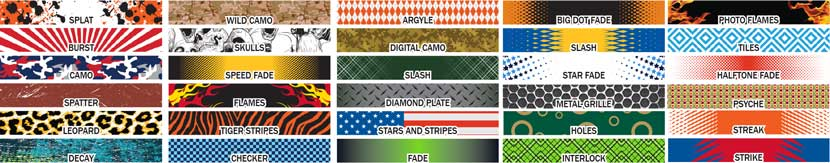 Lacrosse decal pattern designs