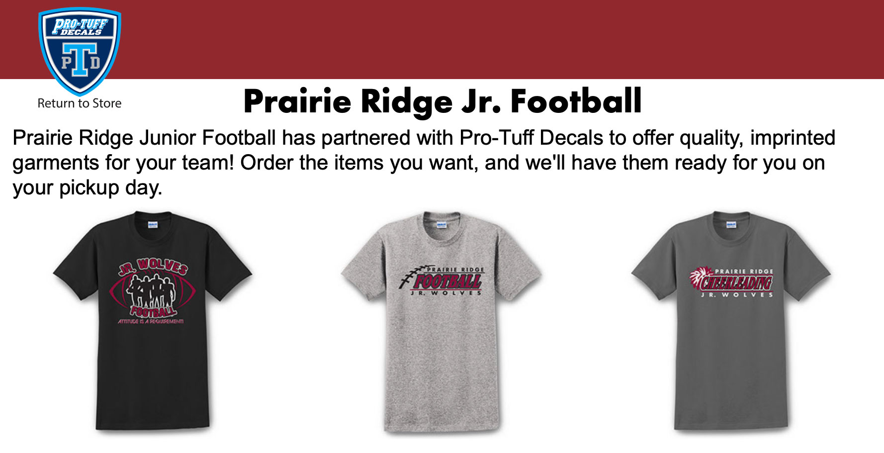 Prairie Ridge Jr. Football