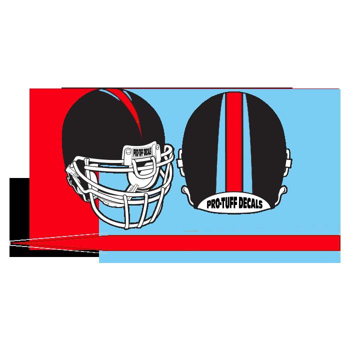 cc8876d2 BS303 Bronco Style Stripe   Pro-Tuff Decals   Football Helmet