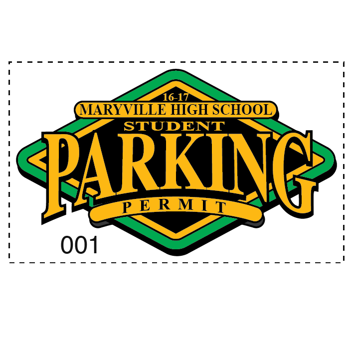 WINDOW DECAL PARKING PERMITS