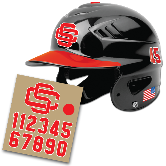 BATTER HELMET DECAL SET