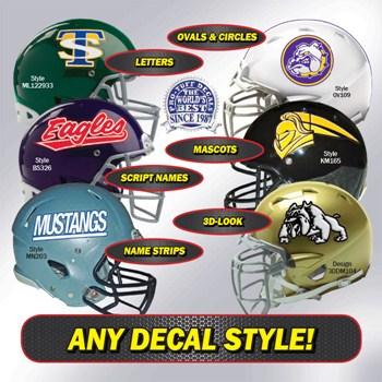 Standard football helmet decals view view
