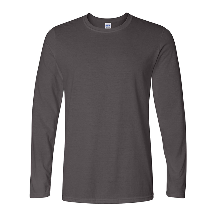 7095e1e27 Incredibly soft, comfortably stylish Gildan SoftStyle® long sleeve, semi-fitted  shirts! 4.5 oz., 100% ring-spun cotton jersey knit (Sport Grey 90 cotton/10  ...