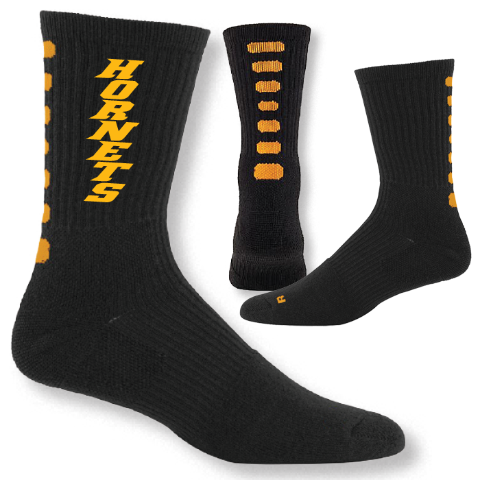 A6092 Color Block Performance Crew Socks