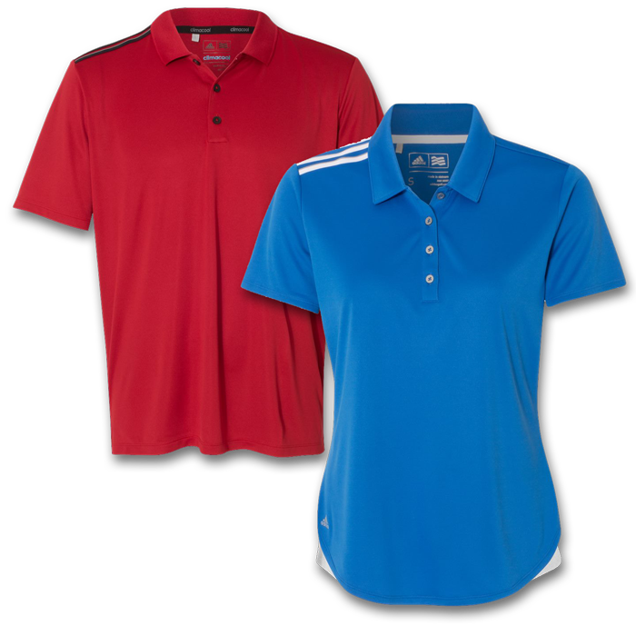 Adidas® Climacool 3-Stripes Shoulder Polos