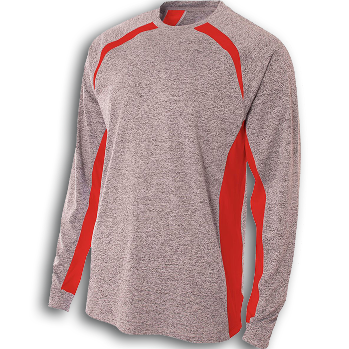 AN3229 SUPER SOFT COLOR BLOCK PERFORMANCE LONG SLEEVE TEE