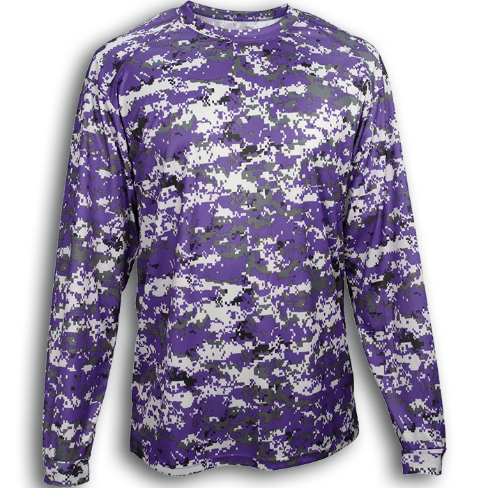 B4184 Badger Digital Camo L/S Tee