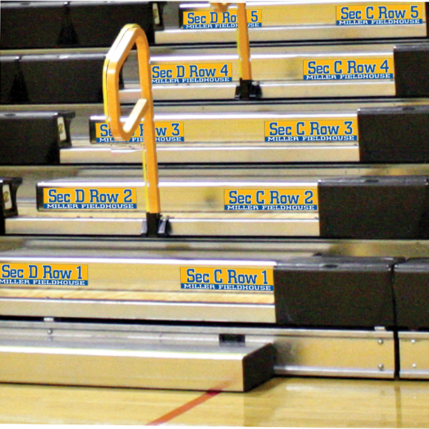 BLEACHER STEP DECALS