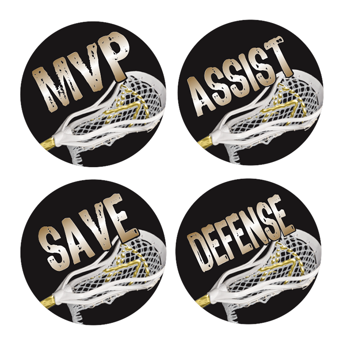 FULL COLOR LACROSSE AWARD DECALS