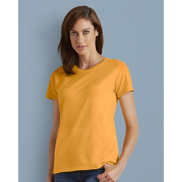 G5000L Ladies Short Sleeve Heavy Cotton T-shirt