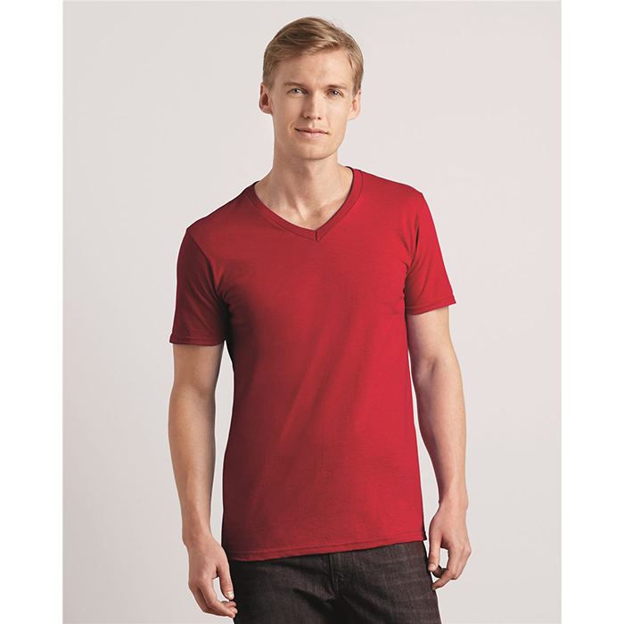 G64V00 Gildan SoftStyle Short Sleeve V-Neck Semi-Fitted T-Shirt