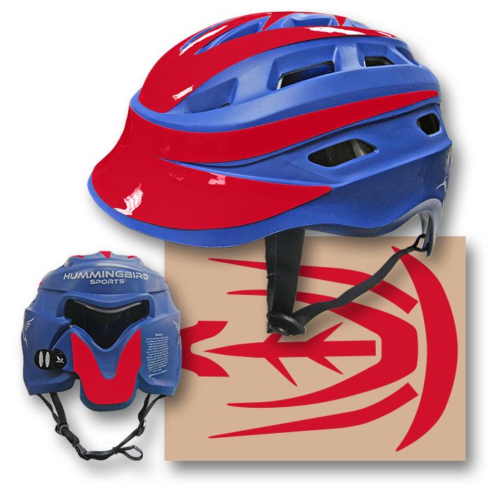 HMBSET01 Hummingbird Lacrosse Helmet Decal Set