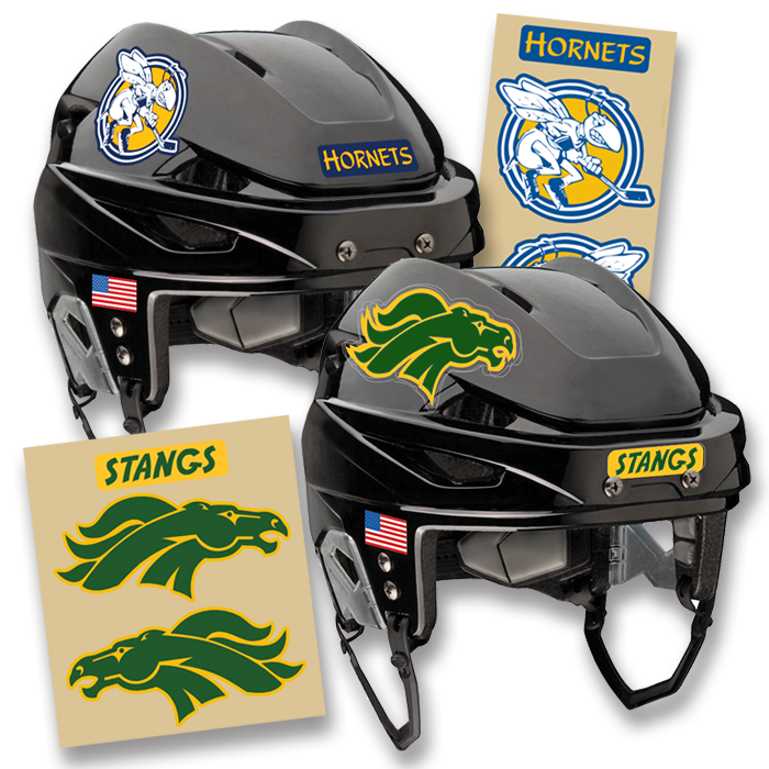 Vinyl Stickers For Hockey Helmets