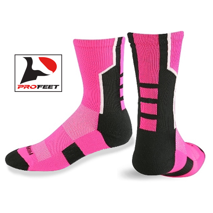 PF2303 Performance Pink Crew Socks