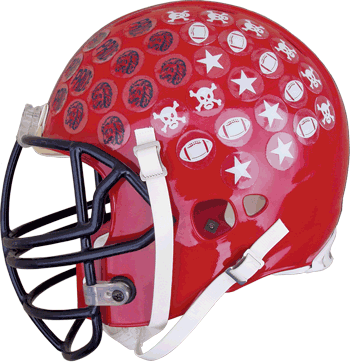 FOOTBALL AWARD STICKERS/DECALS