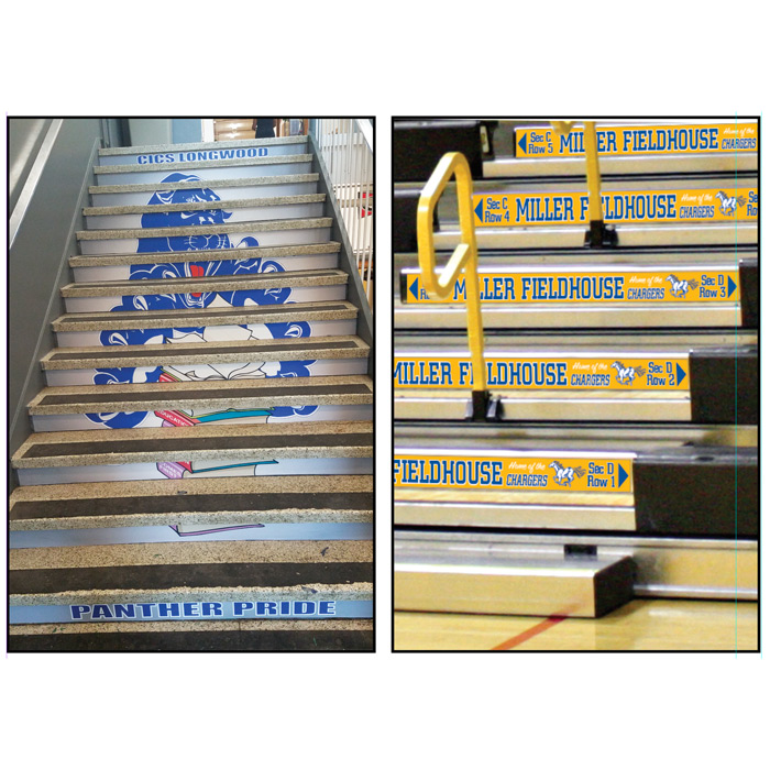 Staircase Decals/Bleacher Step Decals