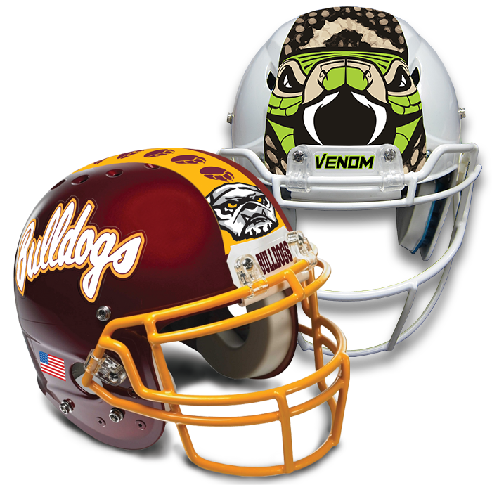 Football Helmet Stickers : Football helmet decals online pro tuff